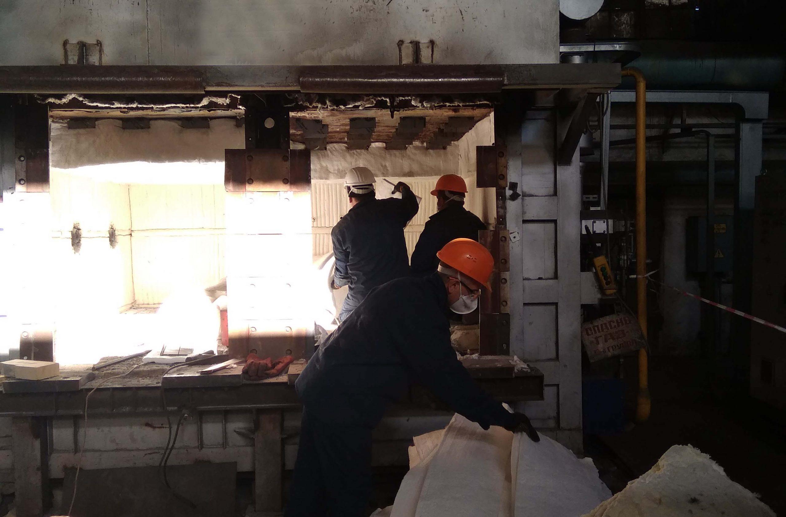 Проведена модернизация печей в кузнечнопрессовом цехе «Запорожского линейно-механического завода»